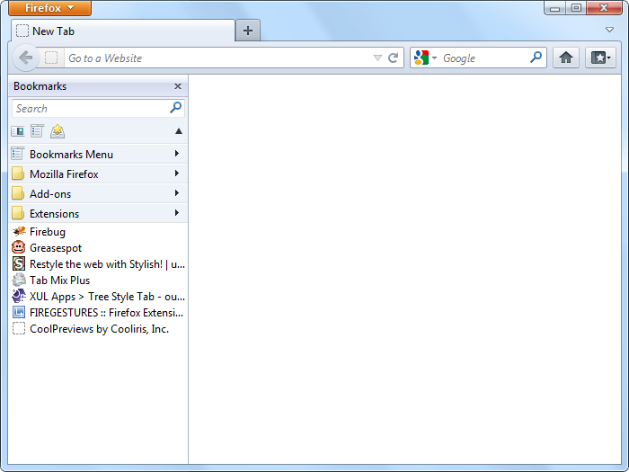 Flat Bookmarks :: Firefox Extension