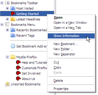 Places Context Menu
